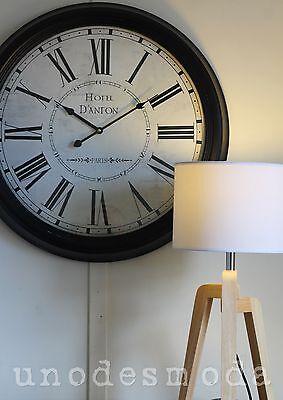 62CM PARIS print WALL CLOCK Hotel Danton FRENCH DESIGNER Modern Home Decor retro