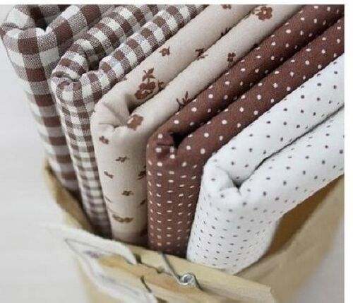3 1 5 PIECES NATURAL BROWN HOME DECO QUILT CRAFTS NEW FABRIC 100/% COTTON
