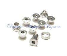 NEW KCNC CRANK CHAINRING BOLTS SCREWS FOR CAMPY CAMPAGNOLO  AL7075, SILVER