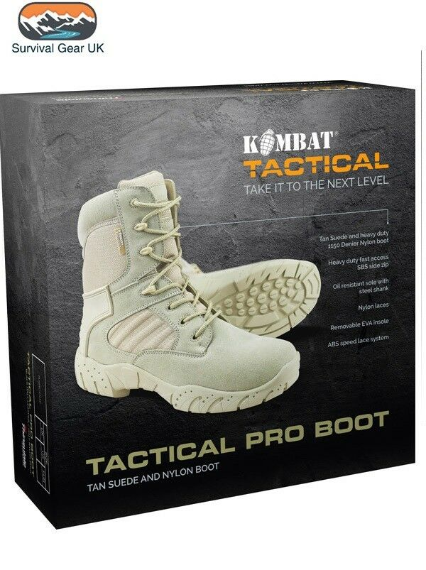 Desert Tactical 50% Pro Stiefel 50% Tactical Suede 50% Heavy Duty Nylon Side Zip Cadet Airsoft f88534