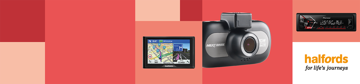 Shop event 20% off Car Tech from Halfords Price drop on car stereos, dashcams & more.