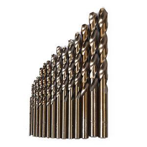 15x-High-Speed-Steel-HSS-Co-5-M35-Cobalt-Drill-Bit-Set-1-5-10MM-Steel-Pounch