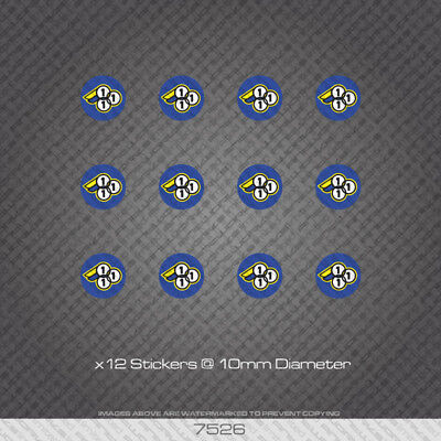 7529 3Rensho Head Badge Bicycle Stickers Decals Transfers
