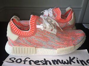 d63cf7d10 Adidas Nmd R1 Pk White Red Pink Camo Sz 11! Ba8599 Primeknit Zebra ...