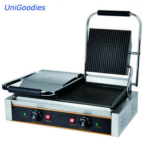Griddle Grill Machine Warmer Toaster Sandwich Panini Press Two