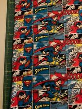 Camelot Fabric DC Comics II Batman in Royal HALF METRE