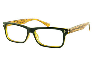 6fed71a8f936 Icy 180 Unisex Black Yellow Crystal Glasses With Prescription Lenses ...