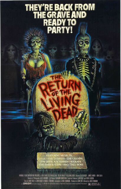 RETURN OF THE LIVING DEAD Movie Poster Horror Zombies Night Dawn Day Undead