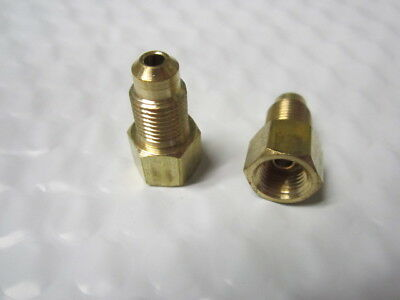 Pack of 10 3//8 X 24 Female thread Inverted Flare M12 X 1.0 Male Thread Bubble Flare Brass Adapter Fitting