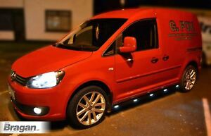 Pour-2015-Volkswagen-Vw-Caddy-Maxi-Noir-Cote-Barres-Pas-Tubes-Blanc-Leds