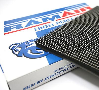 RAMAIR High Flow Panel Air Filter Foam Material + Stainless Steel Cage Mesh