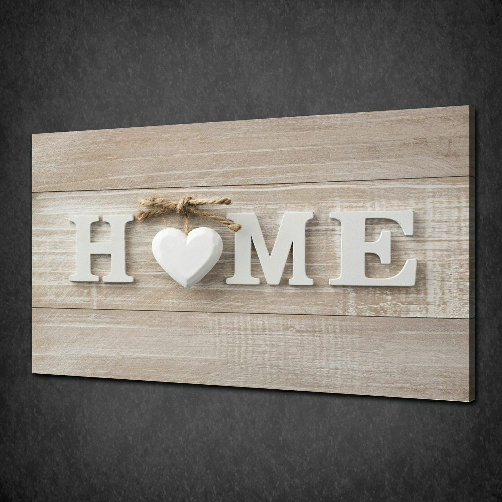 HOME WOODEN SIGN MODERN DESIGN CANVAS WALL ART PRINT PICTURE READY TO HANG