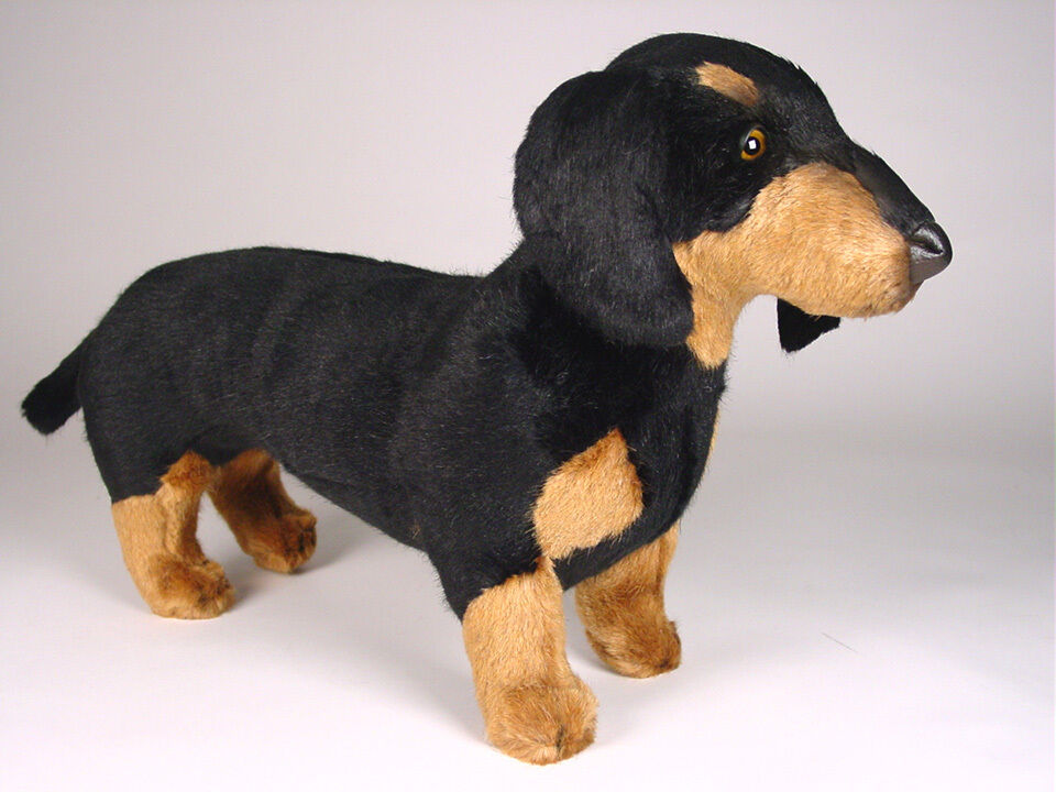 Smooth Dachshund by Piutre, Hand Made in , Plush Stuffed Animal NWT