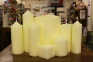 Church-Pillar-Candles-High-Quality-Ivory-White-Large-Unscented-Long-Burn-Wax