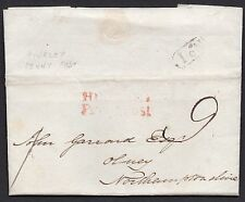 Hinckley penny post in red & No1 boxed in black manuscript 9 lieicestershire