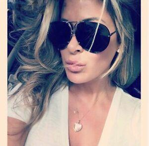 Rose Gold Aviators Mirrored Sunglasses Oversized Reflective Huge Luxury Flat Top