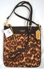 $138 NWT Coach 50808 Madison Ocelot North/ South Swingpack Cross Body Handbag
