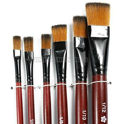 6 pcs Nylon Acrylic Painting Drawing Oil Paint Brushes Pen for Artist Supplies