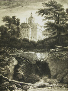 Engraving-c1874-the-Castle-after-Jacob-Von-Ruysdael-Writer-Flameng-Castle