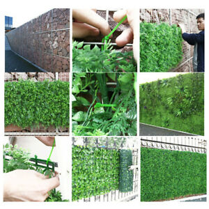 Details About Artificial Hedge Plant Privacy Fence Screen Faux Greenery Wall Panels Decors