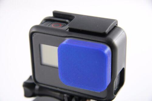 GoPro go pro Hero 5-lentes protección lens caps capuchón protector cover Shiny Blue