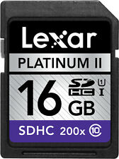 Lexar 200X 16GB 16G SD SDHC UHS-I Class 10 C10 Memory Card For Camera DSLR 30M/s