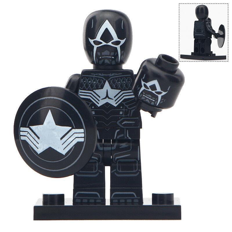 Captain America Venomized Marvel Venom Lego Moc Minifigure Gift For Kids