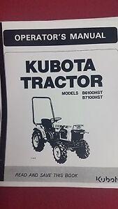 kubota b7100 parts manual pdf