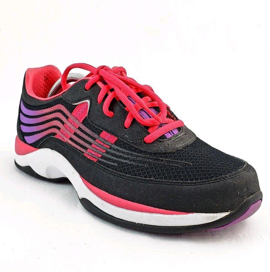 Dansko 40 Shayla Mujer Caminar Con Cordones Zapato Atlético Caminar Mujer Caliente Rosa Negro nos 10 Usado En Excelente Condición 1c57b9