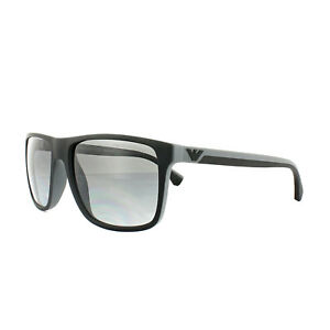 74ec1b9bd91 Image is loading Emporio-Armani-Sunglasses-4033-5229T3-Black-Grey-Rubber-