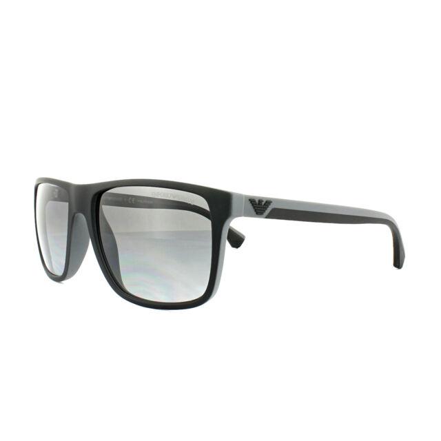74fe2cfc963 Emporio Armani Sunglasses 4033 5229T3 Black Grey Rubber Grey Gradient  Polarized