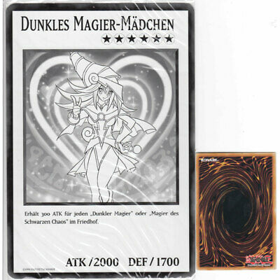 Duel Overload Oversize Card Promo Yugioh- Dunkles Magier-Mädchen OVP