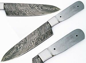 custom made damascus making 12 kitchen chef knife blank blade ebay. Black Bedroom Furniture Sets. Home Design Ideas