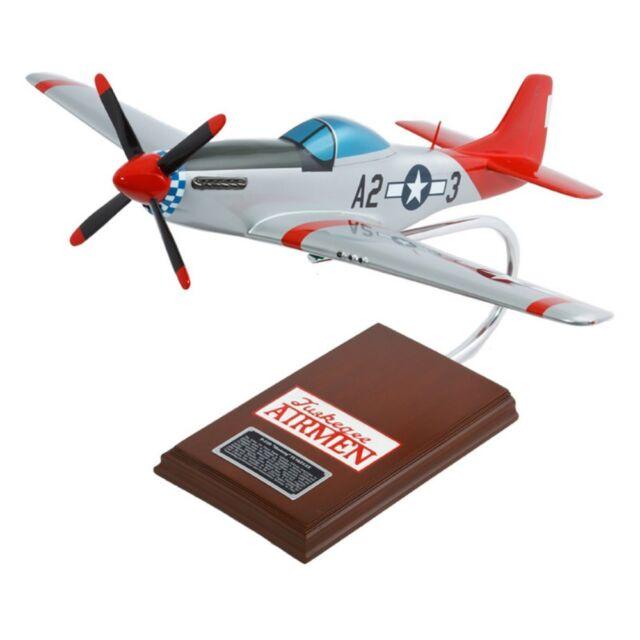 Daron Worldwide P-51D Mustang Tuskegee Airman Model Airplane, Silver