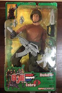 Nouveau Gi Joe Duke contre Cobra Spytroops non ouvert / original 2003 Figure W pièces rares