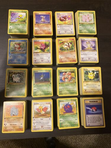 16-Card NM//LP Condition Jungle 1st Edition Complete Common Card Set Pokemon