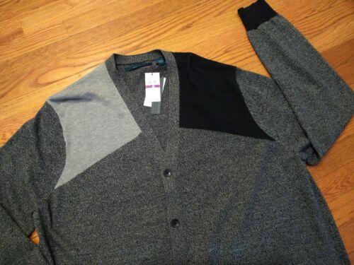 Msrp 100 Mens Ellis Cotton Blend Perry Cardigan Nwt Sweater Colorblock 4qx5d5w