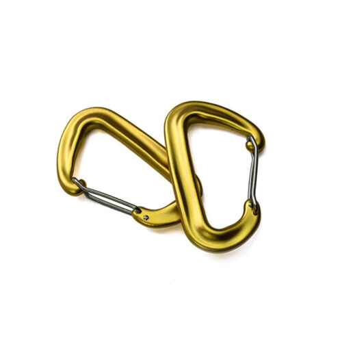 D Carabiner Clip Snap Spring Clasp Hook Keyring Camping Carabina Small Karabiner