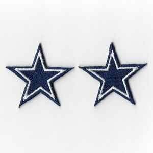 2X-Dallas-Cowboys-Small-Iron-on-Patches-Embroidered-Badge-Patch-Applique-Sew-FN