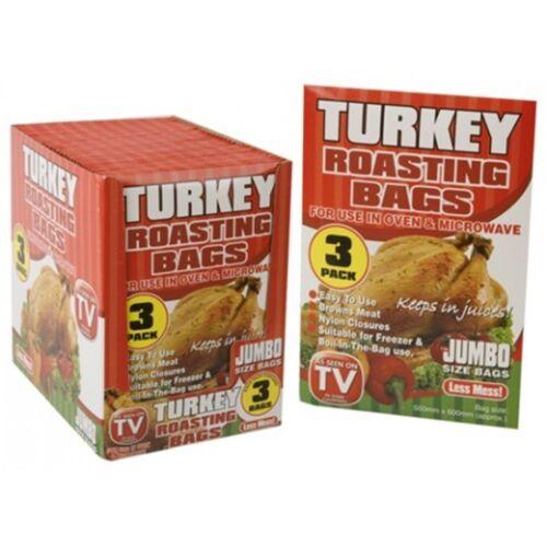 Navidad 3 Jumbo Tamaño asar Turquía Bolsa horno de microondas Pollo Carne Pescado aves de corral