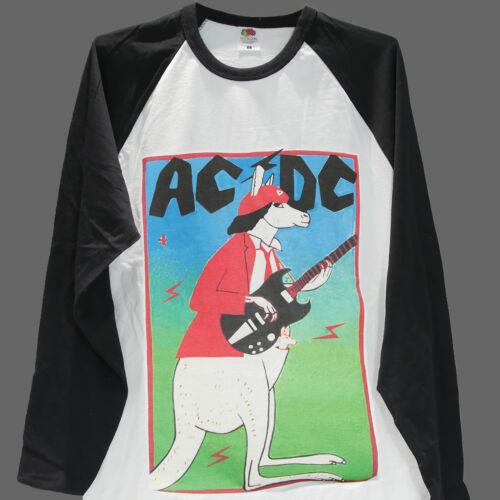 AC DC METAL ROCK T-SHIRT baseball long sleeve unisex top van halen accept S-3XL