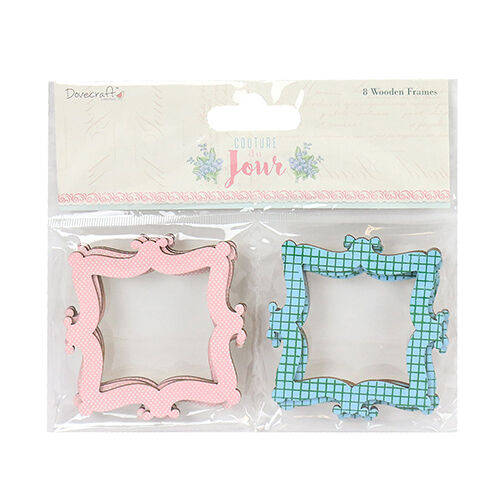 Dovecraft Couture du Jour Wooden Frames for cards and crafts