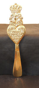 Brass Prince Charles Lady Diana july 29th 1981 Shoe Horn over 8 inches (10201)