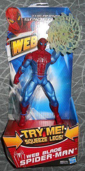 AMAZING SPIDER-MAN ( 6  ) ( WEB BLADE ) MARVEL WEB BATTLERS SERIES ACTION FIGURE