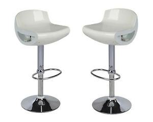 Coppia sgabelli abs bar sedie cucina ristorante sgabello bianco