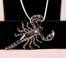 Stainless Steel Design Scorpion Pendant Chain/Necklace w/Free Jewelry Box/Ship