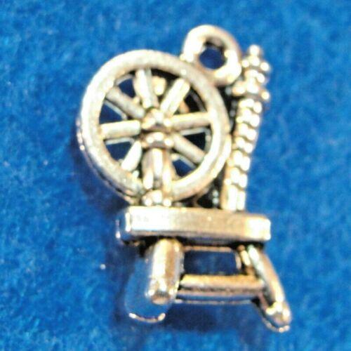 Tibetan Silver SPINNING WHEEL Charms  Pendants Jewelry Findings PR117 10Pcs