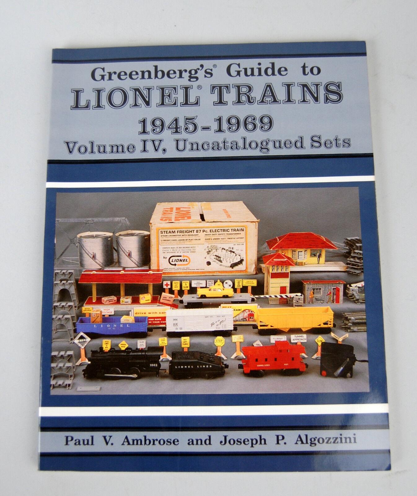 Greenberg's Guide Lionel Trains 1945-1969 Vol IV Uncatalogued Sets Ambpink 1992