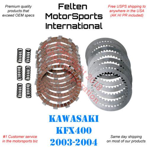 Kawasaki KFX400 Clutch Kit Set Discs Disks Plates Springs KFX 400 KSF Kawi 03-04