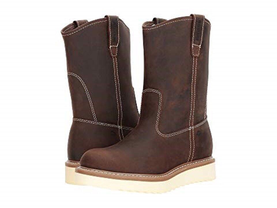 WOLVERINE W10740-EW LOADER 10  ST GY WELT Mn's (W) braun Leather Work Stiefel